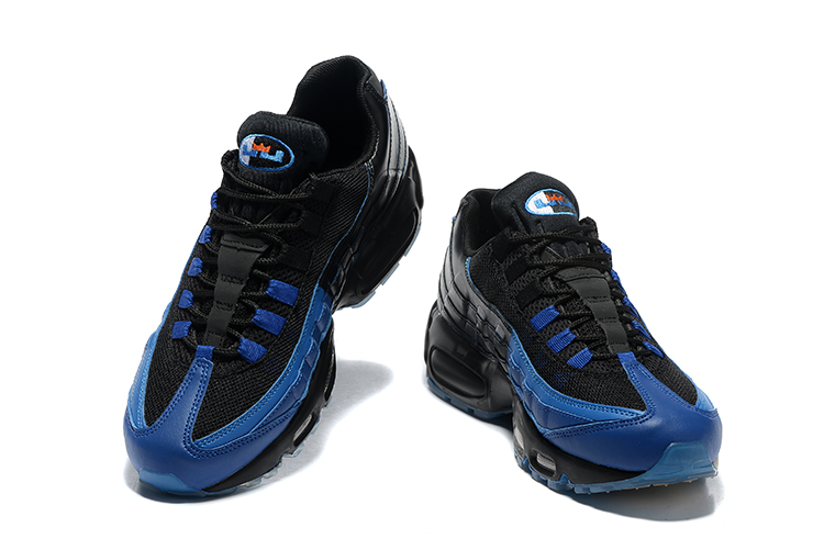 pre order lace up in official photos Nike Air Max 95 LJ QS Lebron James Game Time Black Blue Men Shoes 822829-444