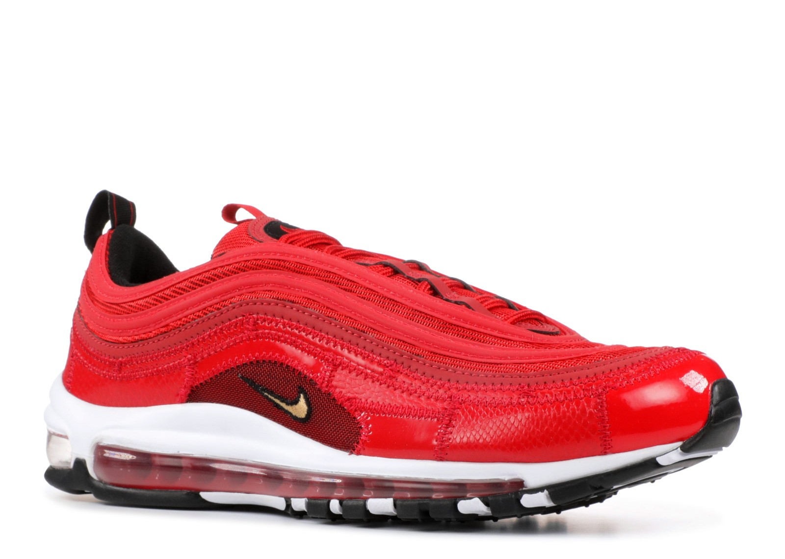 Nike Air Max 97 Cr7 Cristiano Ronaldo Portugal Patchwork University Gold Red Metallic AQ0655 600