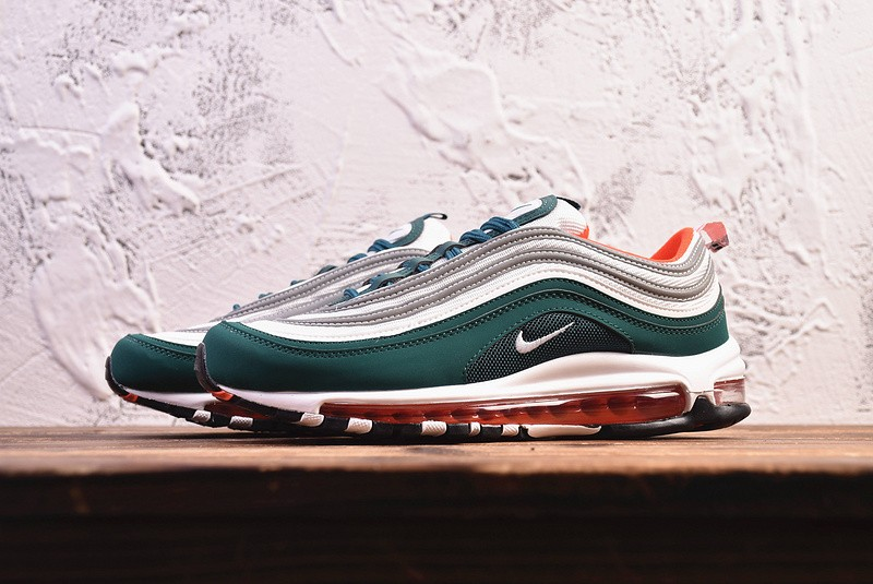 coreano Mecánicamente diario  Nike Air Max 97 Green White Red Shoes Casual Sneakers 921522-300 - Sepsport