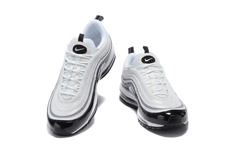4ac624d80474bf Nike Air Max 97 Pure White Black Men Running Shoes Sneakers Trainers 312641- 006