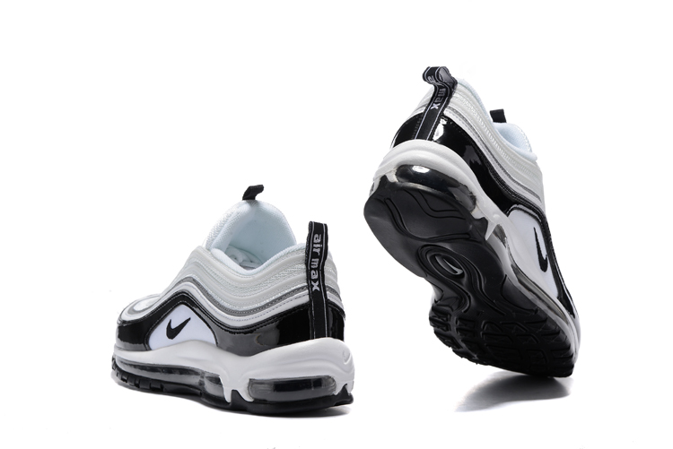 226c68b1be5 ... Nike Air Max 97 Pure White Black Men Running Shoes Sneakers Trainers  312641-006