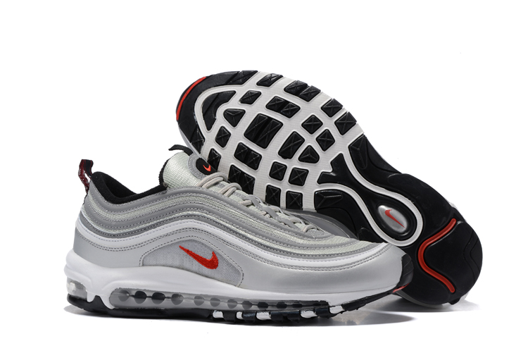 superior quality e2d9e 00d3e Prev Nike Air Max 97 White Silver Grey Black Men Running Shoes Sneakers  Trainers 312641-059. Zoom