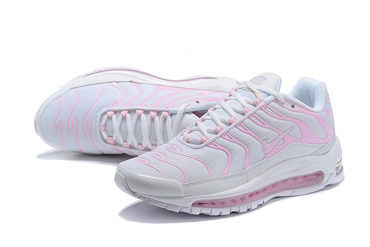 pretty nice 862bc 6d38f Nike Air Max 97 Plus White Light Pink Sneakers