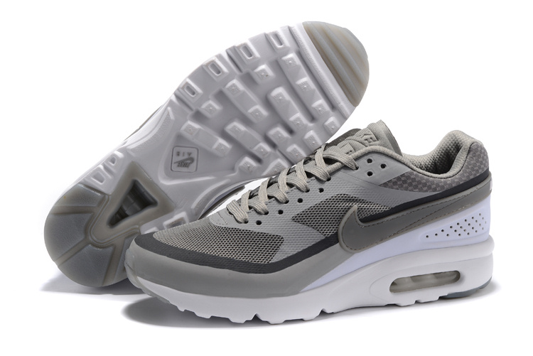 outlet store 02201 85996 Nike Air Max BW Ultra Men Running Shoes Sneakers Light Grey Black ...