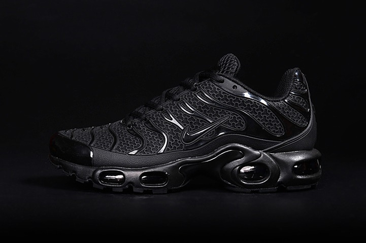 Nike Air Max Plus TN KPU Tuned Men Sneakers Running Trainers Shoes All Black