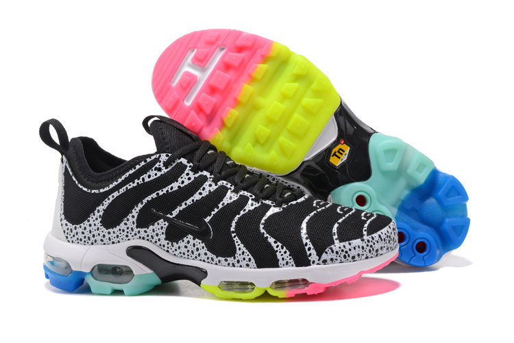 acbf7caf8e Nike Air Max Plus TN Ultra Running Shoes Unisex Black White Colored ...