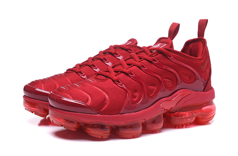 new style 1600e 57583 Nike Air Vapor Max Plus TN TPU Running Shoes Chinese Red All