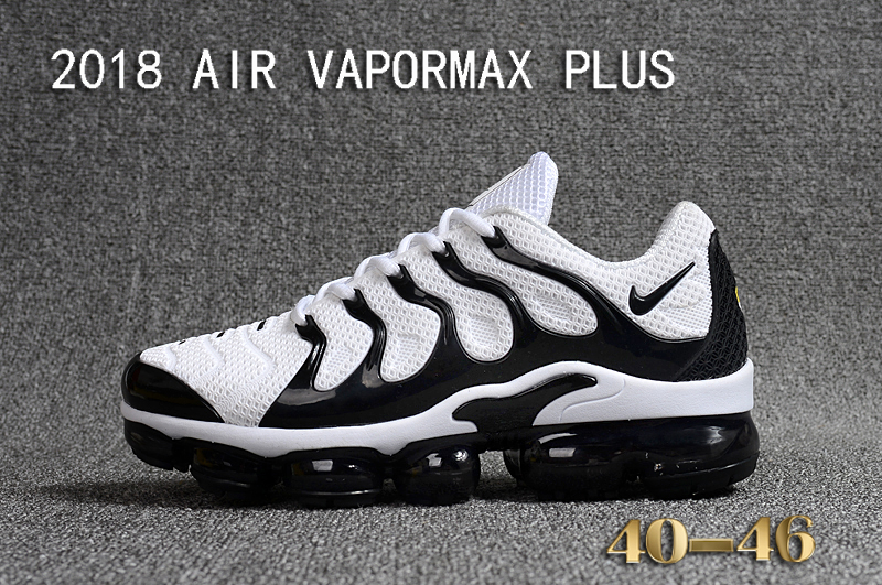 promo code 304f9 cddc0 Nike Air Vapor Max Plus TN TPU Running Shoes Hot White Black