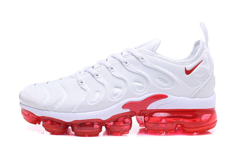 best authentic 0c3dd 41b3f Nike Air Vapor Max Plus TN TPU Running Shoes White Red