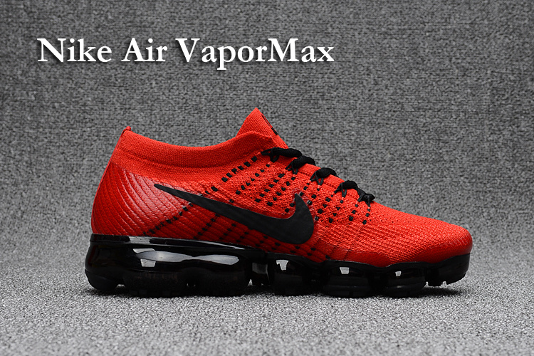 92d2d7a230 Nike Air VaporMax 2018 red black men Running Shoes - Sepsport