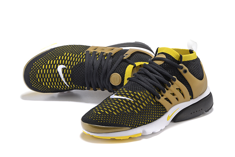 wholesale price various colors exclusive range Nike Air Presto Flyknit Ultra Black Gold Yellow New Men Running Shoes  835570-007