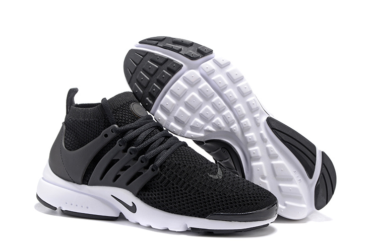 new product d8082 ebcdd Nike Air Presto Flyknit Ultra Black White Running Shoes Sneakers ...