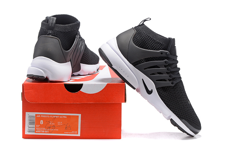 cheaper 92645 7a126 ... Nike Air Presto Flyknit Ultra Black White Running Shoes Sneakers  835570-001 ...