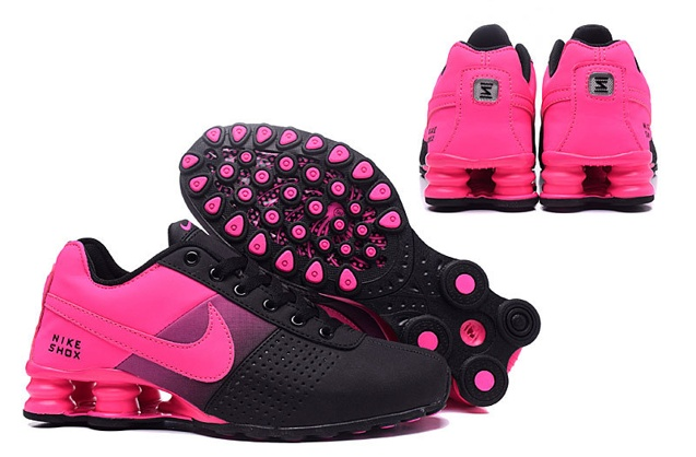 buy online 791b9 fad9c Nike Shox Deliver Women Shoes Fade Black Fushia Pink Casual Trainers  Sneakers 317547
