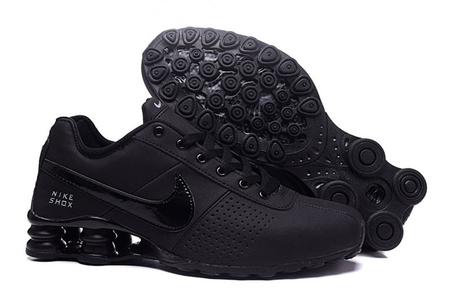 c599cc5986e Nike Shox Deliver Men Shoes Total Black Casual Trainers Sneakers ...