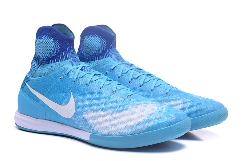 ceb309bde ... Nike MagistaX Proximo II IC MD Soccers Shoes ACC Waterproof Blue White  ...