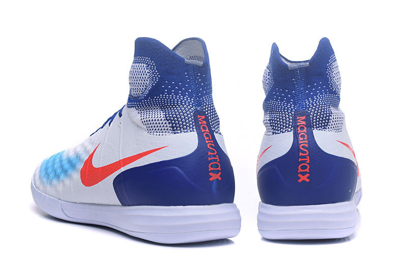 bfc1a3bc0 ... Nike MagistaX Proximo II IC MD Soccers Shoes ACC Waterproof Olympic White  Blue Orange ...