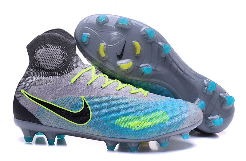 94794491d Prev Nike Magista Obra II FG Soccers Football Shoes ACC Grey Jade Blue Black.  Zoom
