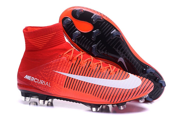 089804c2a Prev NIke Mercurial Superfly V FG ACC Kids Soccers Shoes Red Orange Black  White. Zoom