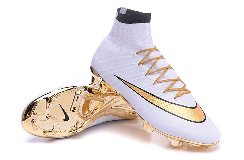 best service b1e3a d8982 ... Nike Mercurial Superfly FG White Gold Black Ronaldo Limited Edition  15th Anniversary ...