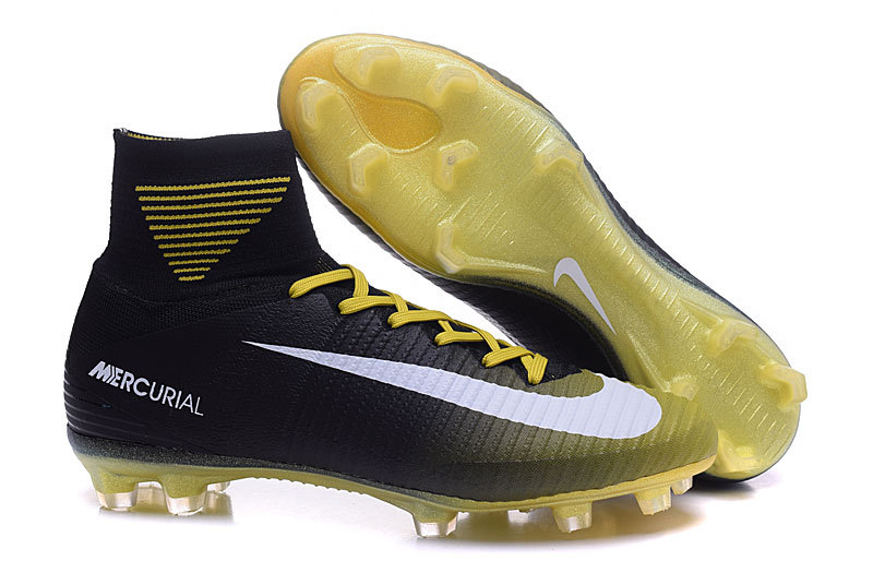 26aa2c5bf39f Prev Nike Mercurial Superfly V FG ACC High Football Shoes Soccers Black  Yellow. Zoom