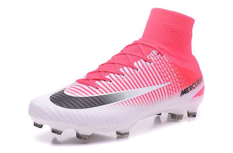 best website d1860 ccf92 Nike Mercurial Superfly V FG high help white red black football shoes