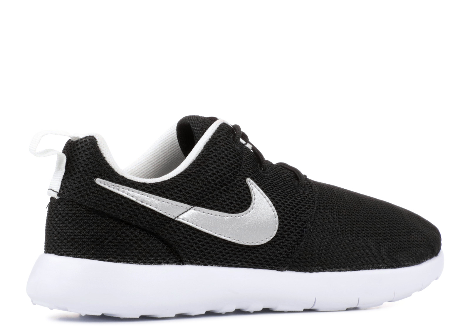 599728 007 Nike Roshe Run (black Metallic Silver) Gra