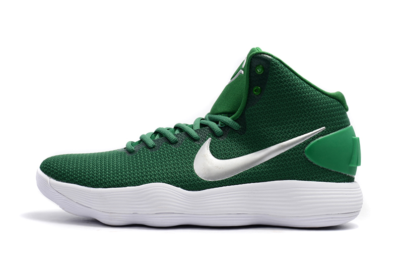 white and green nike basketball shoes