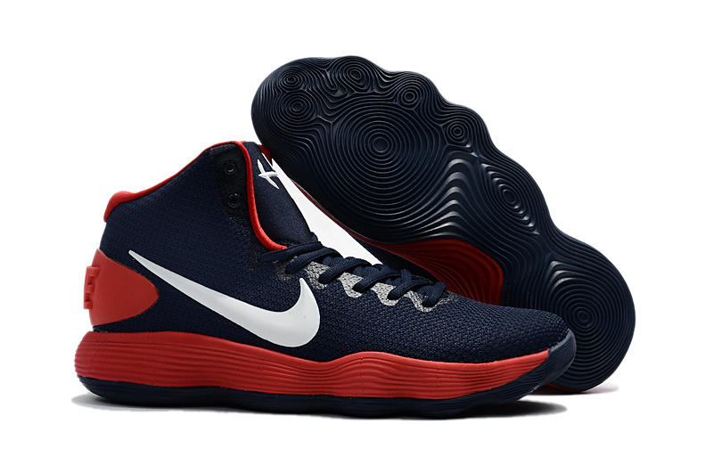 6d61955c8900 Nike Hyperdunk 2017 EP Youth Big Kid deep blue red white basketball ...