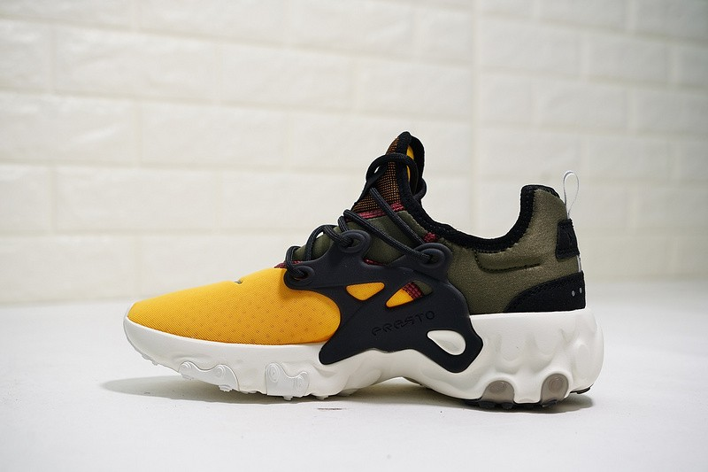 the best attitude 7aaa3 b50db Prev Nike Epic React Presto 19SS Olive Green Yellow Black White ...