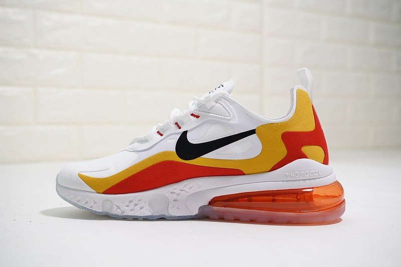 9ad555c800a06 Nike React Air Max White Yellow Red Running Shoes AQ9087-019 - Sepsport