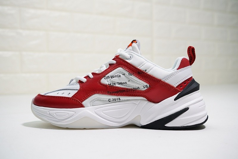 newest collection 98b8b 9a249 Prev OFF White x Nike Air Monarch The M2K Tekno Red White Black AO3108-060.  Zoom