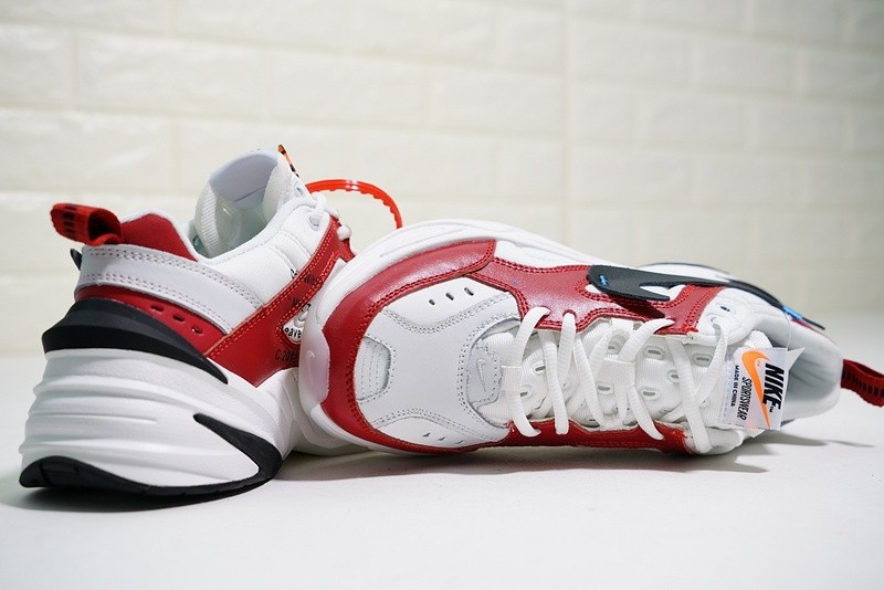 f4322be3208 OFF White x Nike Air Monarch The M2K Tekno Red White Black AO3108 ...