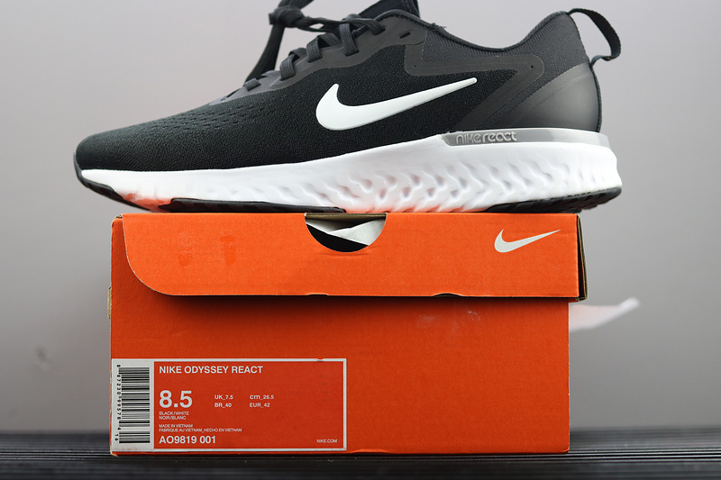 cozy fresh store attractive price Nike Odyssey React Running Shoes Black White AO9819-001 - Sepsport