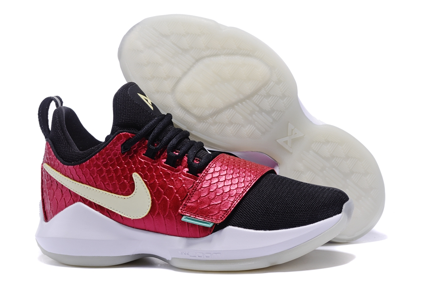 cc5c7fcd0f7 Prev Nike Zoom PG 1 Paul George Men Basketball Shoes Rose Red Black White  878628