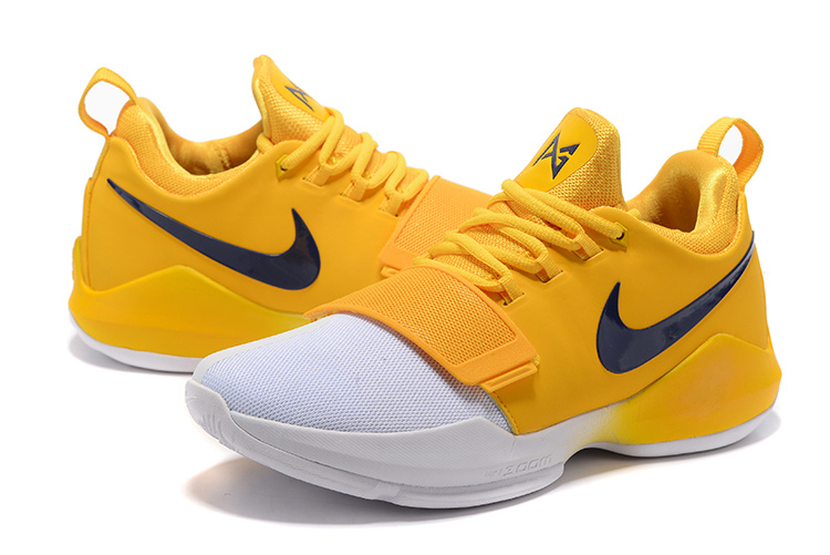 paul george shoes yellow and blue Kevin