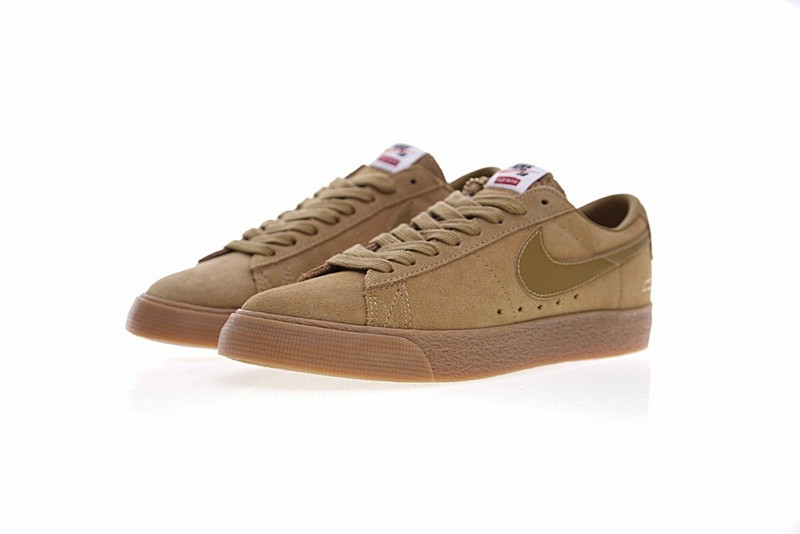 Unisex NIKE BLAZER LOW GT SUPREME Skateboarding Shoes 716890 229