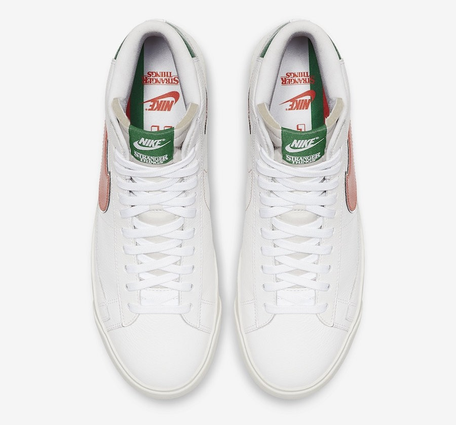 bicicleta Litoral empezar  Stranger Things x Nike Blazer Mid Hawkins High White Orange Green ...