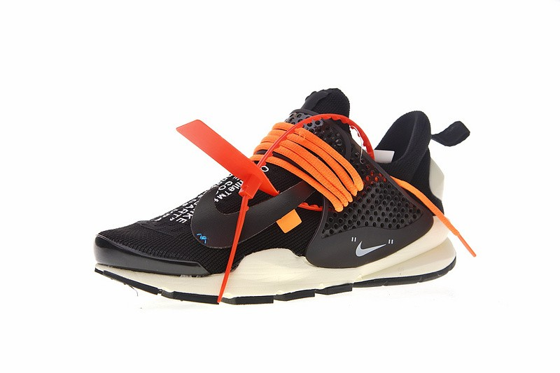 newest 82f07 d1112 Off White x Nike La Nike Sock Dart Black White Orange 819686-053 ...