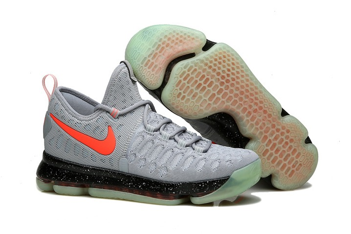 buy popular 10d7e 9a65c Prev Nike KD 9 Kevin Durant Men Basketball Shoes Grey Bright Orange Black  843392. Zoom