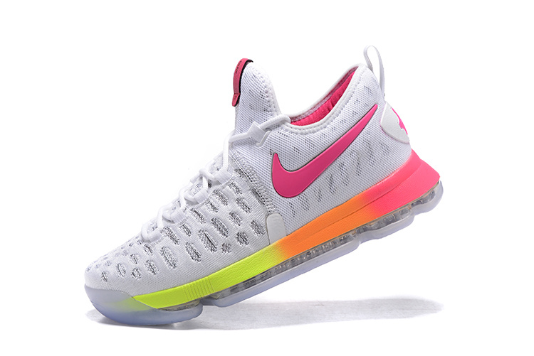 Nike Zoom KD 9 EP IX Colorful Shadow Pink Yellow Kevin Durant Men Basketball Shoes 844382