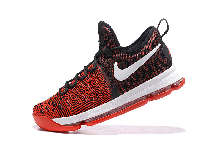 36bd6418273 Nike Zoom KD 9 EP IX Kevin Durant Hard Work Red Black Mens Basketball Shoes  844382 ...