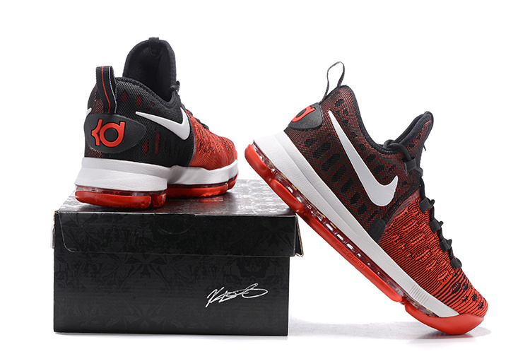 8070ad4cba0 ... Nike Zoom KD 9 EP IX Kevin Durant Hard Work Red Black Mens Basketball  Shoes 844382 ...