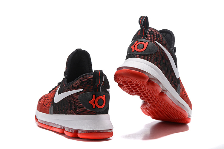 best sneakers 28045 16c60 ... Nike Zoom KD 9 EP IX Kevin Durant Hard Work Red Black Mens Basketball  Shoes 844382