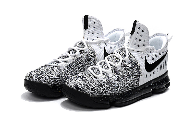 check out 8ca25 bf300 Nike Zoom KD 9 EP IX Kevin Durant White Black Men Basketball Shoes  844382-100