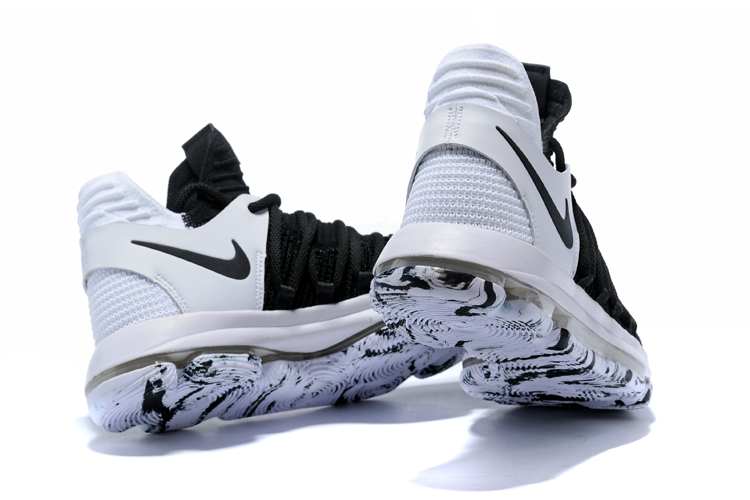 competitive price fb2b2 74f86 Nike Zoom KD X 10 Men Basketball Shoes White Black Special New