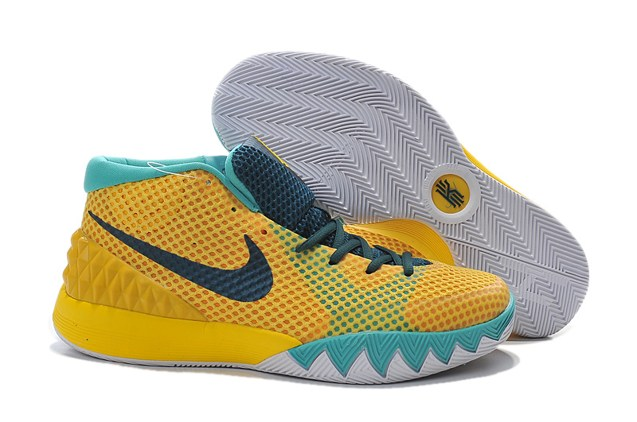 8ed0fac0744a Prev Nike Kyrie 1 EP Men Basketball Shoes Tour Yellow Teal University Gold  ...