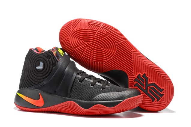 ab9e7ad44a450 Nike Kyrie 2 Bred Black Red Men Shoes 843253 991 - Sepsport