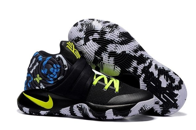 383d4d8c248 Prev Nike Kyrie 2 II EP Black Camo Blue Lemon Green Men basketball Shoes  819583 205