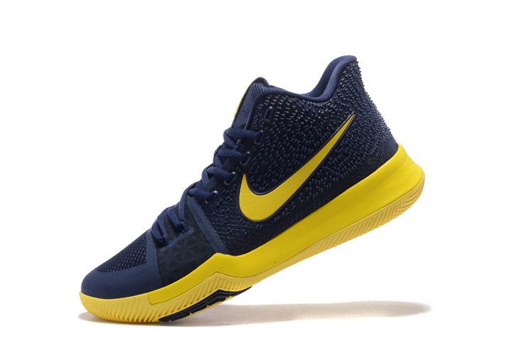 80be4b934ad Nike Zoom Kyrie 3 EP Navy Blue Yellow Men Shoes - Sepsport